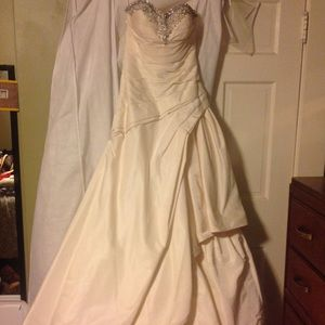 Priscilla candle light wedding dress SZ 2